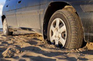 Tire Stuck in Mud